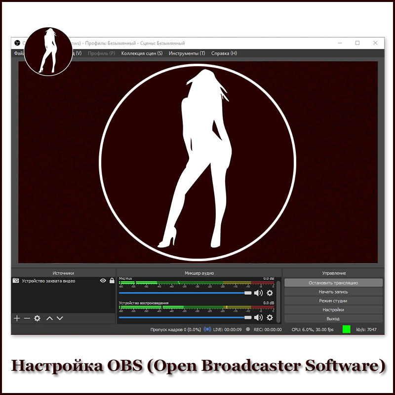 Настройка OBS (Open Broadcaster Software)
